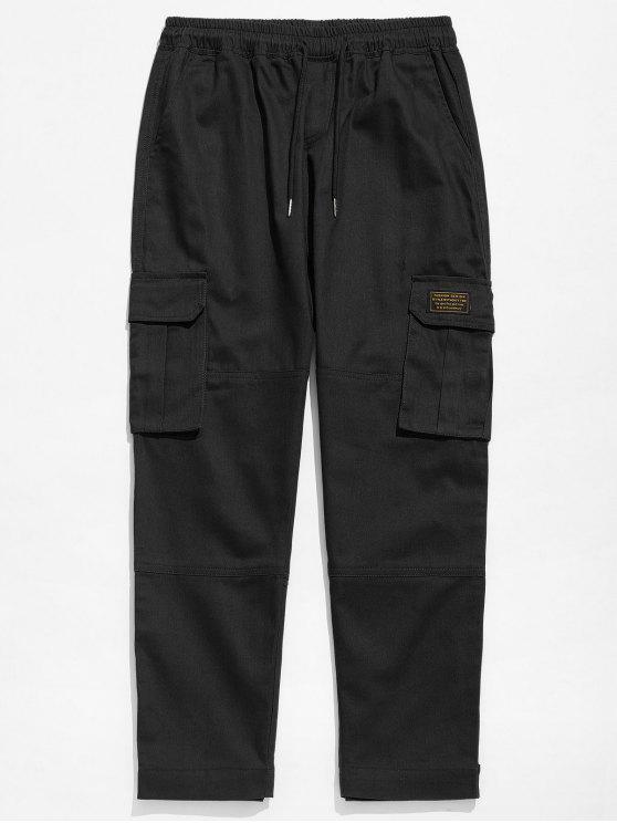 Pantaloni In Tinta Unita - Nero XL