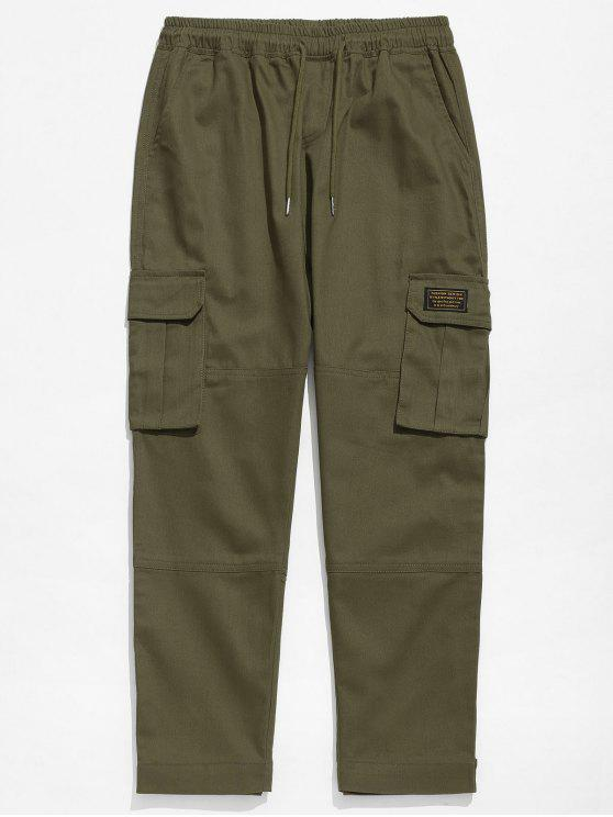 Pantaloni In Tinta Unita - verde  2XL
