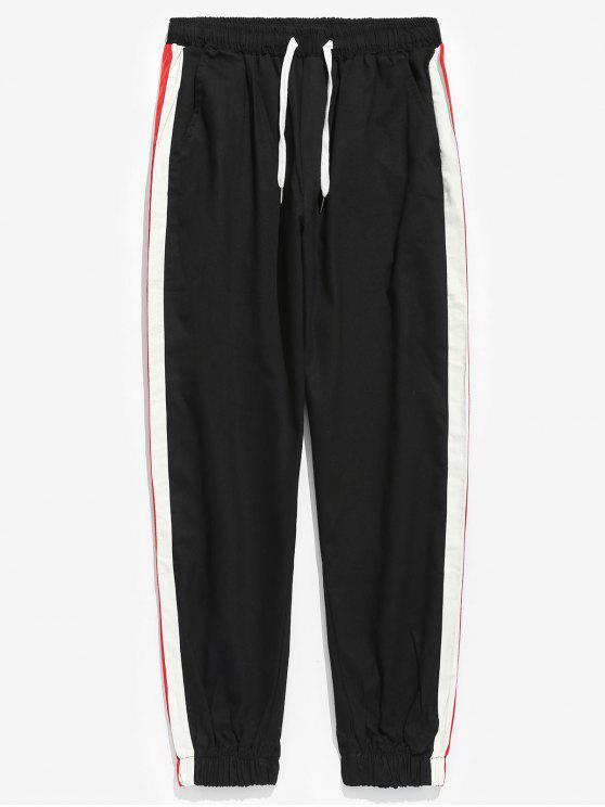 Pantaloni Da Jogging A Righe Laterali - Nero XL