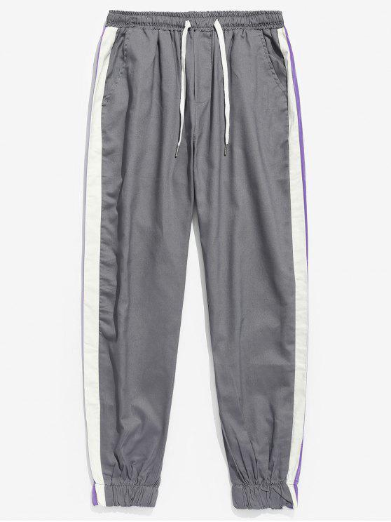 Pantaloni Da Jogging A Righe Laterali - Grigio Nuvoloso  2XL