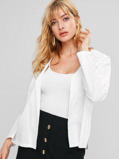 Chinese Style Side Split Jacket - White M