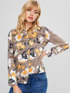 Floral Print Tunic Blouse - Multi M