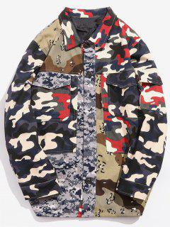 Camo Patchwock Pockets Jacket - Acu Camouflage Xl