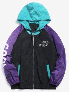 Contract Color Hooded Jacket - Black 3xl