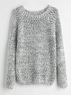 Fuzzy Heathered Sweater - Multi