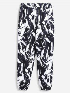 Printed Joggers Pants - Black