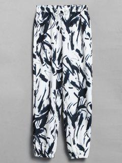 Pantalones Joggers Impresos - Blanco