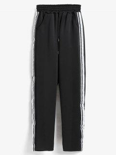 Side Stripe Training Joggers Pants - Black M