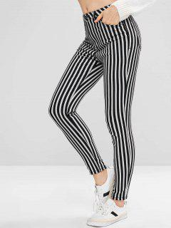 Striped Skinny Jeans - Multi L