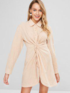 Twist Shirt Dress - Cornsilk M