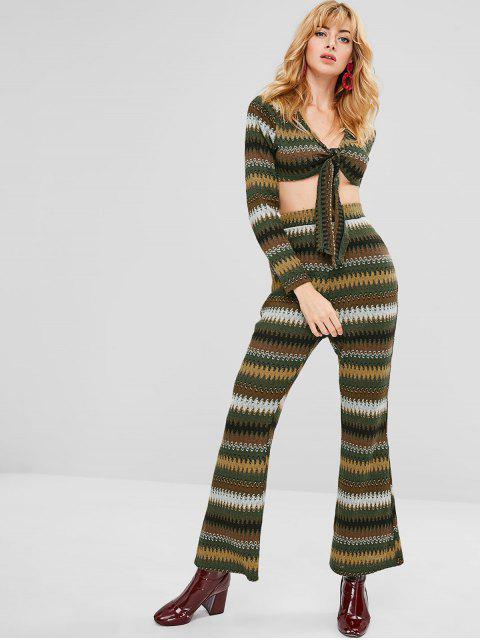 Conjunto de pantalones y top con nudos Zigzag ZAFUL - Multicolor XL Mobile