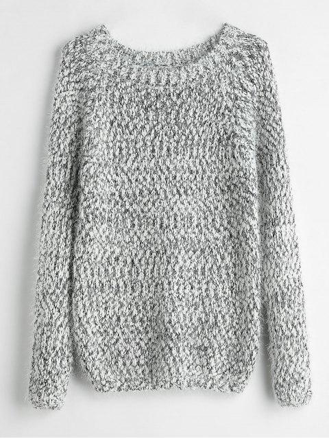 online Fuzzy Heathered Sweater - MULTI ONE SIZE Mobile