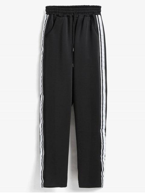 women's Side Stripe Training Joggers Pants - BLACK M Mobile
