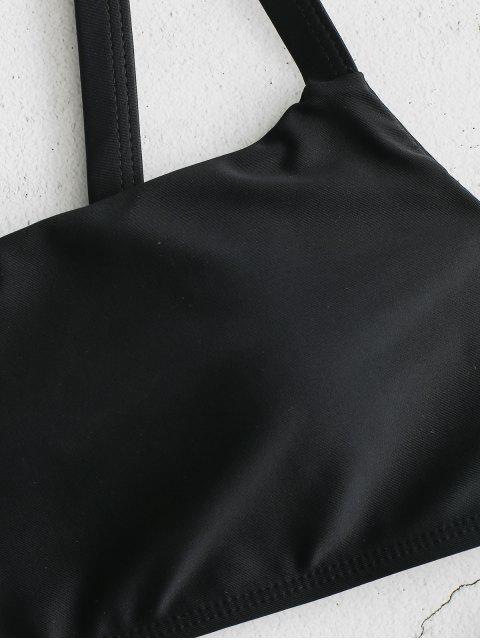ZAFUL Ensemble de Bikini à Coupe Haute - Noir M Mobile