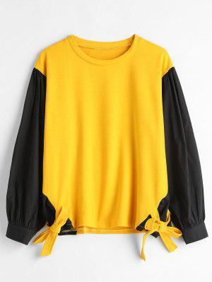 Krawatte Panels Plus Size Sweatshirt