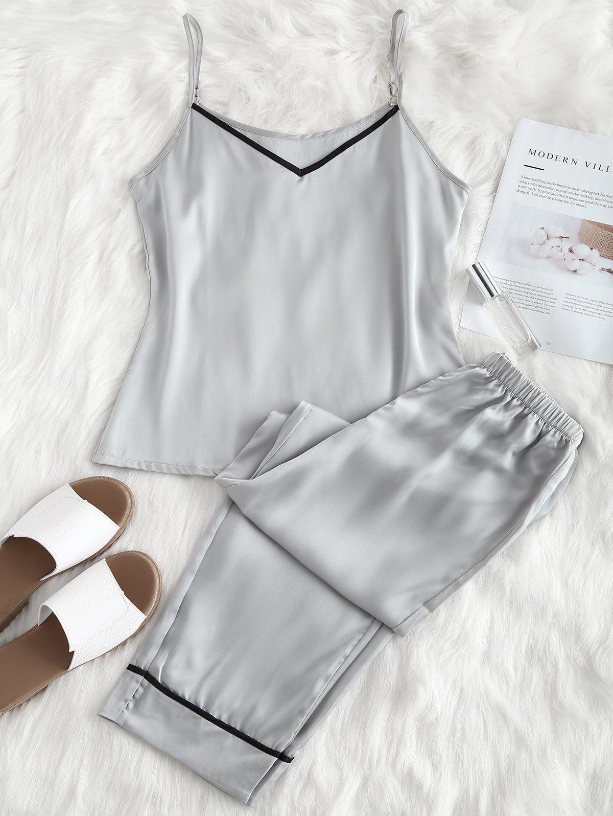 Satin Cami Top and Pants Pajama Set