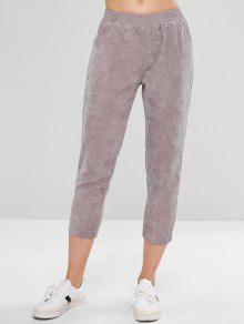 جيب كابري سروال قصير - اللون الرمادي L