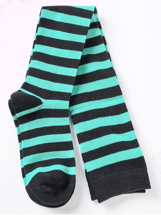 affordable Elegant Thigh High Striped Socks - MULTI-A