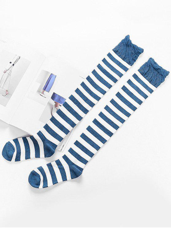 sale Elegant Thigh High Striped Socks - MULTI-B