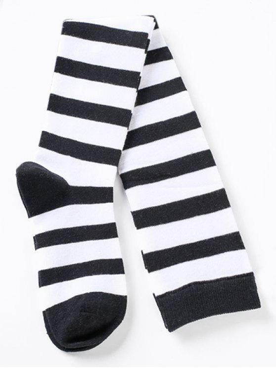 buy Elegant Thigh High Striped Socks - MULTI-D