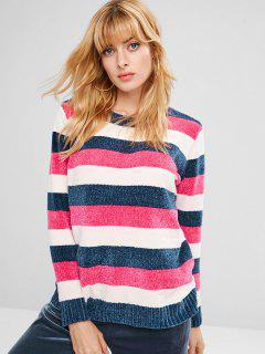 Striped Tunic Sweater - Multi S