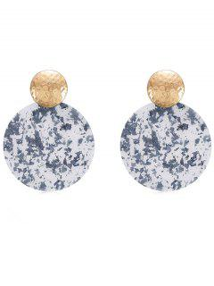 Geomteric Round Shaped Earrings - Baby Blue