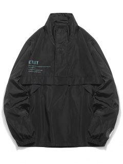Half Zip Pullover Jacket - Black M