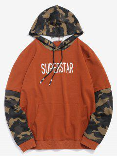 Camo False Two Piece Hoodie - Café M