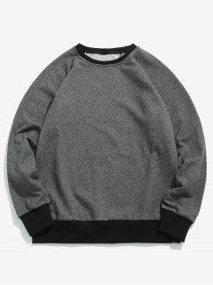 Two Tone Elbow Patch Sweatshirt - Dark Gray M