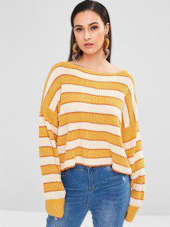 Suéter De Jersey De Rayas Sueltas ZAFUL - Multicolor