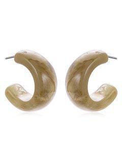 Simple Print Cuff Earrings - Dark Khaki
