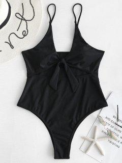ZAFUL Knot Cut Out Swimsuit - Black M