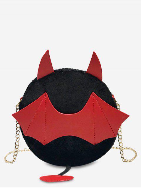 Bolso cruzado del palo de Halloween de la piel sintética - Negro  Mobile