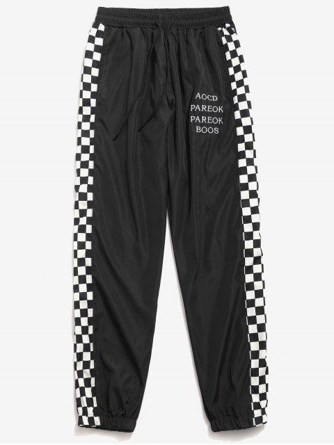 Pantalones Jogger de carta estampados a los lados - Negro 2XL Mobile