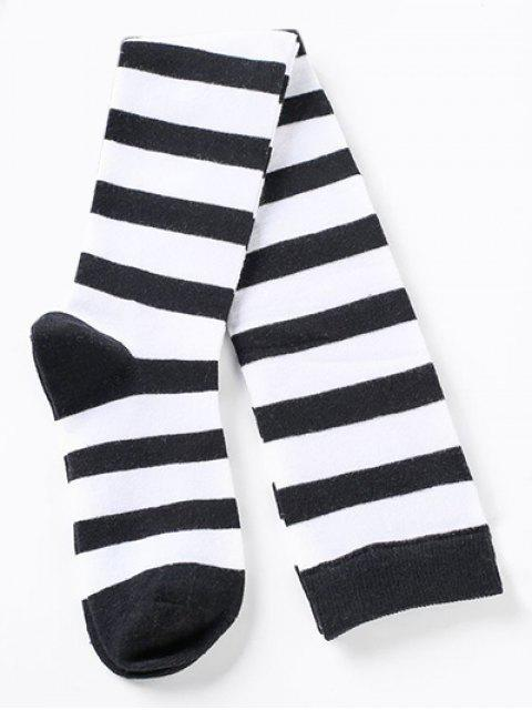 buy Elegant Thigh High Striped Socks - MULTI-D  Mobile