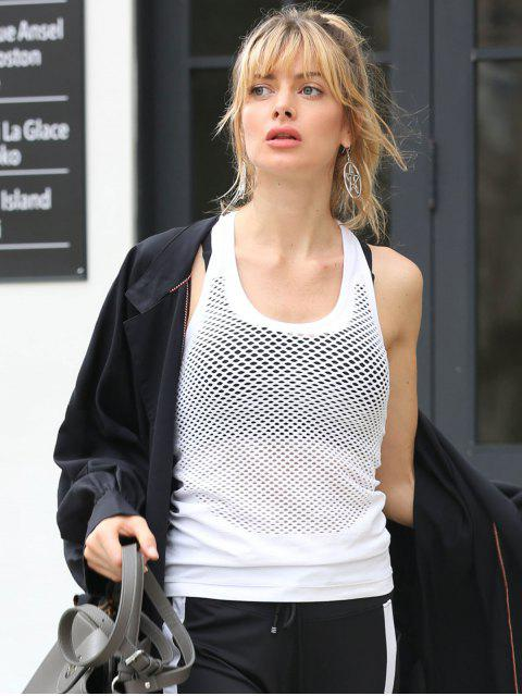 Camiseta sin mangas con calaveras deportivas sin costuras Racerback - Blanco Talla única Mobile