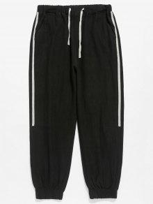بنطال بجيوب جانبية بنمط سروال جيب - أسود L