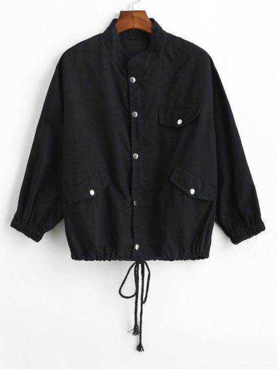 Veste en Twill à Cordon - Noir 2XL