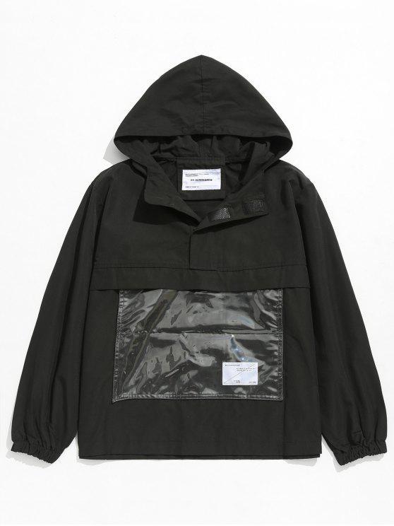 shops Front Pocket Windbreaker Jacket - BLACK L