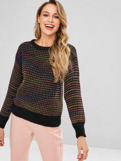 Suéter De Punto De Color Colorido Space Dye - Multicolor