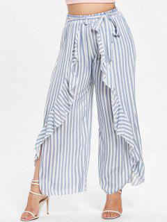 Plus Size Striped Tulip Loose Pants - Multi 2x
