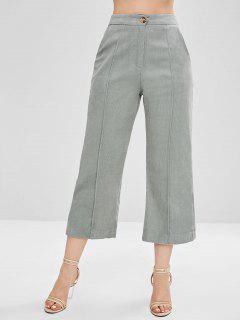 Pantalons Larges à Taille Haute - Bleu Lys Pâle L