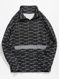 Kangaroo Pocket China Pattern T-shirt - Black L