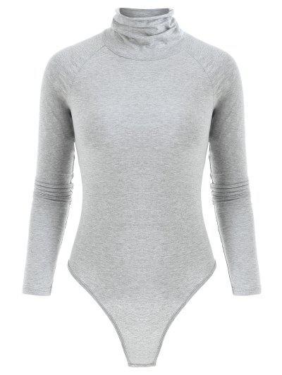 Long Sleeve Turtleneck Snap Crotch Bodysuit - Gray M ... b2423e944