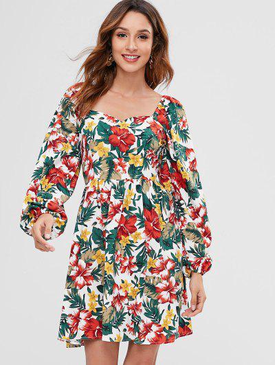 a33217359415b5 ZAFUL Floral Print Mini Sweetheart Dress - Multi Xl