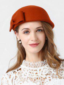 BOWKNOT بلون أنيق القبعات - البابايا البرتقال