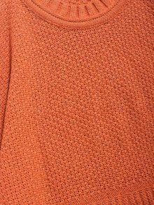 95398dd1c1c 19% OFF  2019 Solid Geometric Twist Knitted Sweater In DARK ORANGE ...