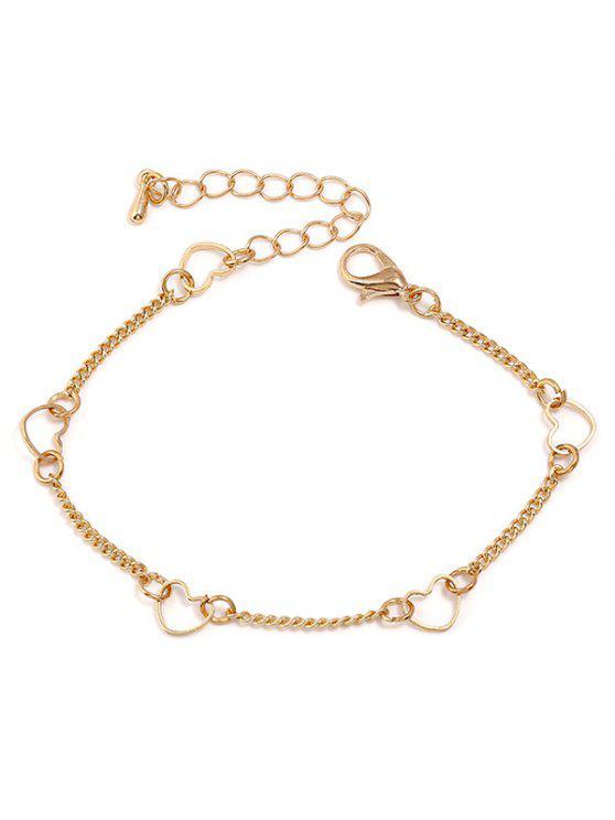 Herzförmiges Kettenarmband - Gold