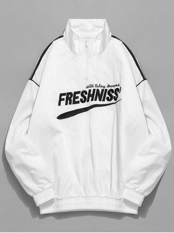 1d58aac1a 34% OFF] 2019 Casual Letter Pullover Windbreaker Jacket In WHITE | ZAFUL