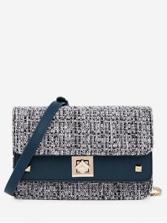 Manta Mini Flap Crossbody Bag - Azul